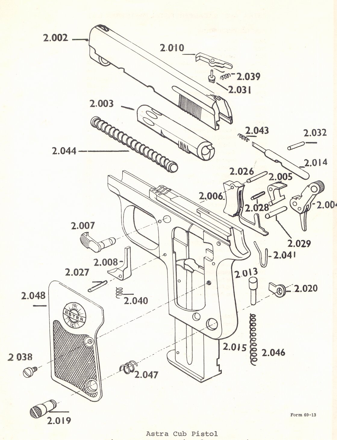 Original Military Colt 1911 Parts Diagram Question About Wiring All Avaialble Astra Gun Bob S Shop Millions Of Cadix Revolver Trigger