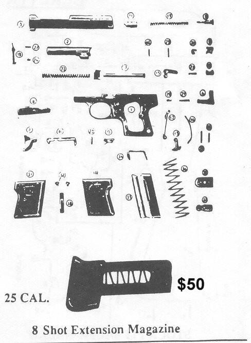 All Bernardelli Baby Gun Repair Parts, Bernardelli Original ... on