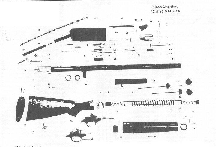 All available franchi shotgun parts, factory franchi shotgun parts.