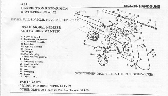 All Availble Harrington Richardson Gun Parts,Harrington Richardson
