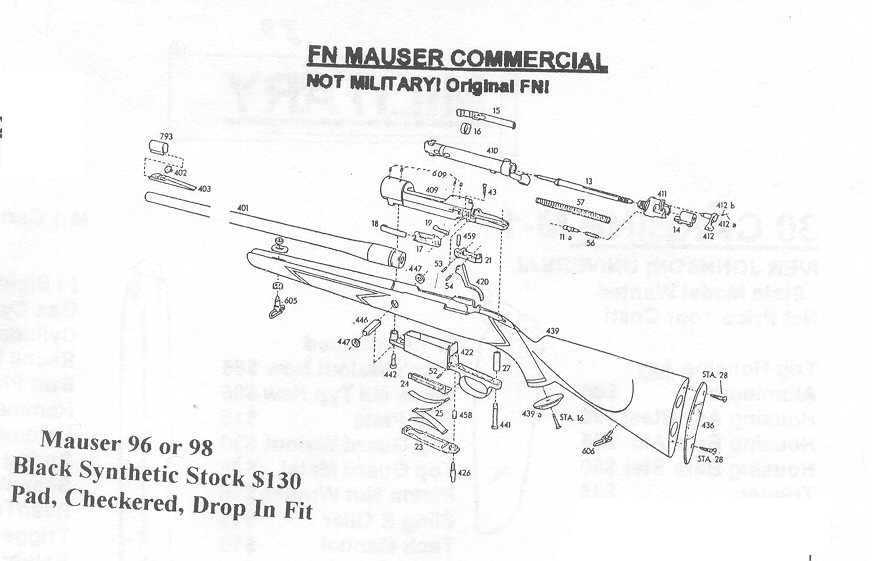 mauser rifle and pistrol repair parts mauser spsorter stocks