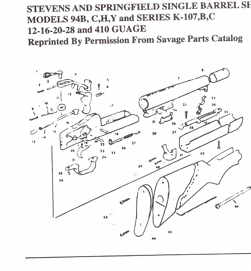 Savage Model 24 Parts Diagram moreover Stevens Single Shot Shotgun Parts besides Savageshotgun additionally Stevens Parts Diagram in addition  on savage 311 410 gauge parts