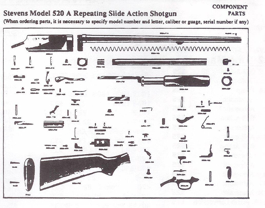 Stevens Model 520 Parts Breakdown Autos Post