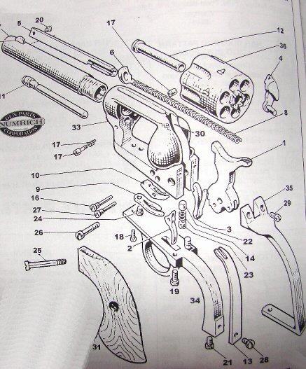many single action revolver parts, bob's gun shop, hawes ... ih 706 parts diagram #10