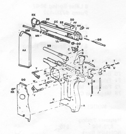 walther ppk s parts diagram