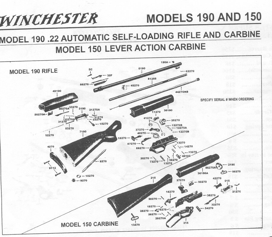 Winchester Parts For Sale